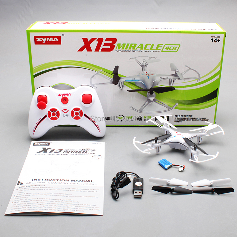 Syma X13 MIRACLE GYRO 2 4G 4CH 6 Axis Mini RC Helicopter Quadcopter Quad Copter RTF