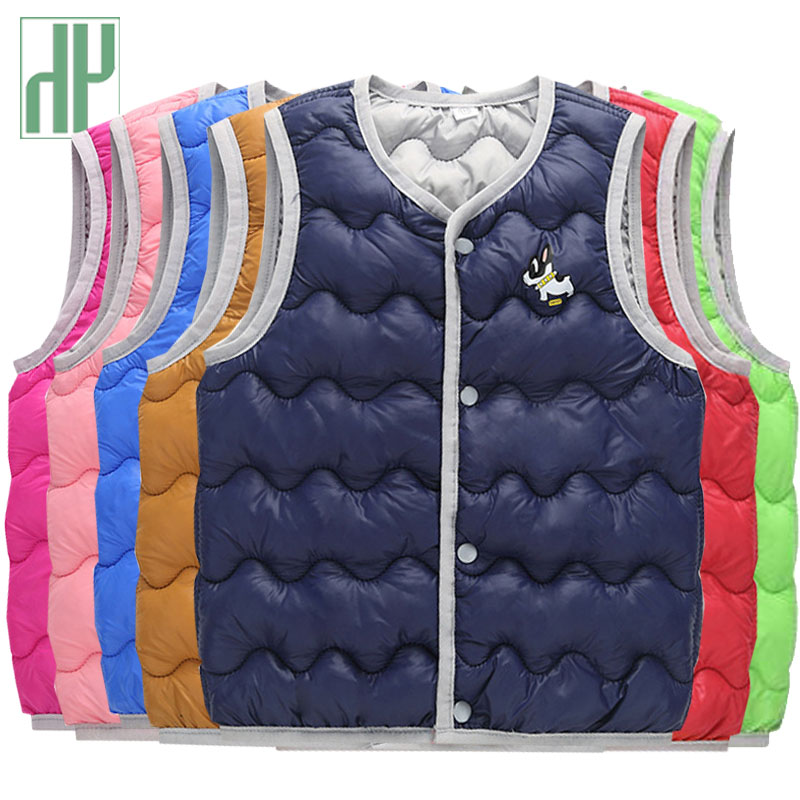 Kids vest Warm Jacket cotton-padded thicken waistcoat Vest children boy jacket Seeveless Outerwear toddler girl winter clothes