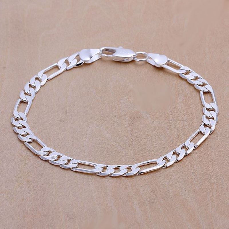 Free shipping 925 sterling silver jewelry bracelet fine fashion bracelet top quality wholesale and retail SMTH219 men beaded bracelet red