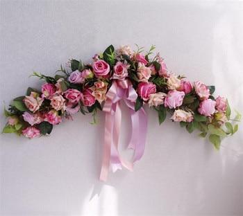 Flone Guirnalda De Flores Artificiales Flores De Peonia Rosa Garland