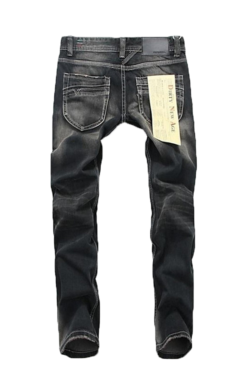 ФОТО Fashion Top Quality Trendy Men's Jeans Casual Leisure Pants Skinny Designed Jeans Men Cotton Black Slim Denim Long Trousers