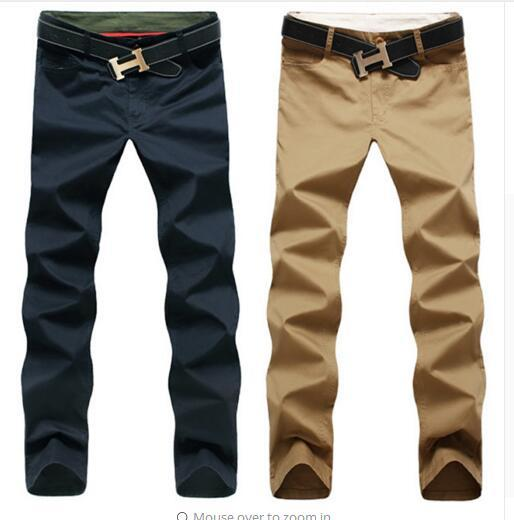 New Fashion men pants cotton washed casual pants men straight trousers 9 colors plus size 28~44 men's clothing