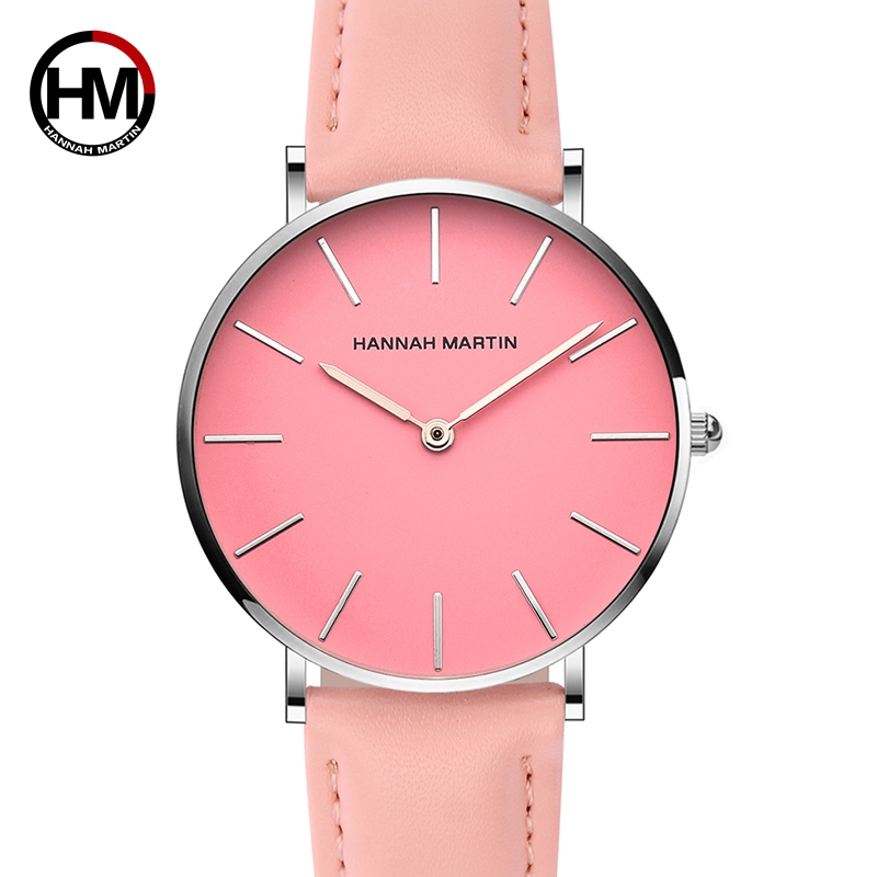 Designer Women Waterproof Watch Fashion Casual Leather 36mm Wristwatches Pink Simple Japan Quartz Movement Relogio Feminino 2018Designer Women Waterproof Watch Fashion Casual Leather 36mm Wristwatches Pink Simple Japan Quartz Movement Relogio Feminino 2018