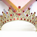 2016 Hair Jewelry All white drill 24 k gold plating Tiaras Money Crown Bridal Headdress  Women Wedding Accessories Zinc Alloy