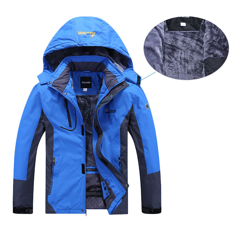 Winter New Waterproof Jacket For Men Fleece Jacket Warm Windproof Outdoor Hiking Fishing Trekking Camping Skiing Male Jackets(China)