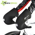 Rockbros Теплая Зима Велосипедные Перчатки Ветрозащитные Водонепроницаемый Горы MTB Велосипед Руль Перчатки Свободный Размер Велоспорт Варежки