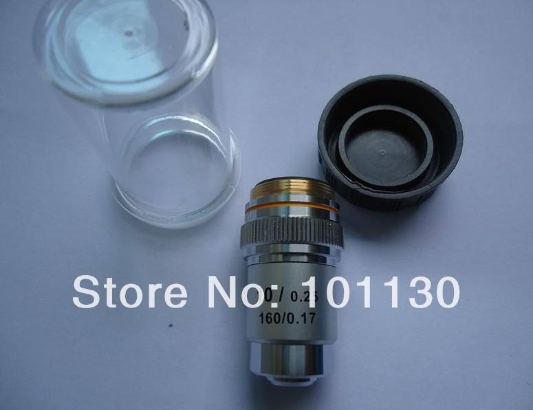 Biological Microscope All Metal 10x Achromatic Objective Lens Microscope accessories 195 lens