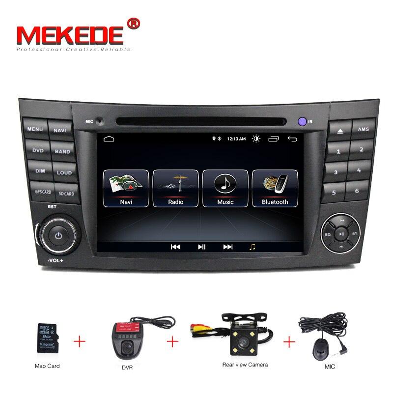 HD 1024*600 da Tela de Toque DVD Player Do Carro para mercedes w211 Android 8.1 multimídia W209 W219 3G WI-FI rádio Estéreo GPS DVR