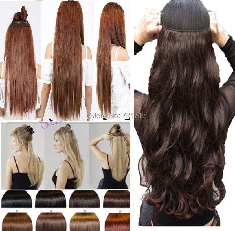 2015 Hot Sale Lady One Piece 23 Inches Straight 34 Full Head Clip