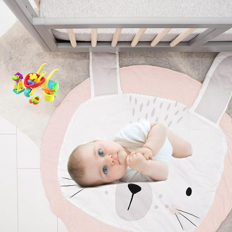 Baby Gyms & Playmats Mother & Kids Newborn Kids Breathable Floor Mats Baby Crawling Blanket Cotton Chilren Padded Mat Round Carpet Play Rug Kid Room Decoration Pad