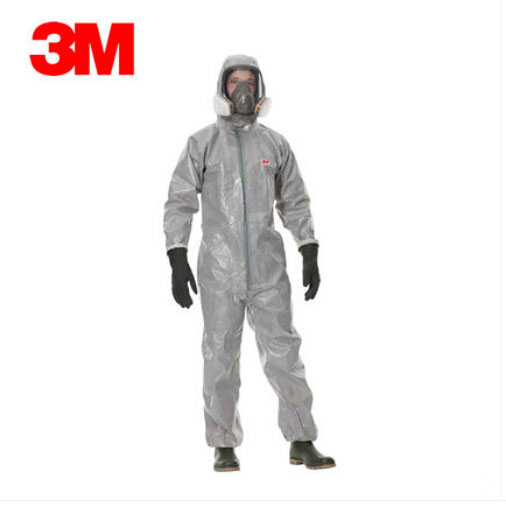 3M 4570 Protective Coverall White Hooded Protective Coveralls Dust Clothes Clean Clothing Anti oil Clothes H020106