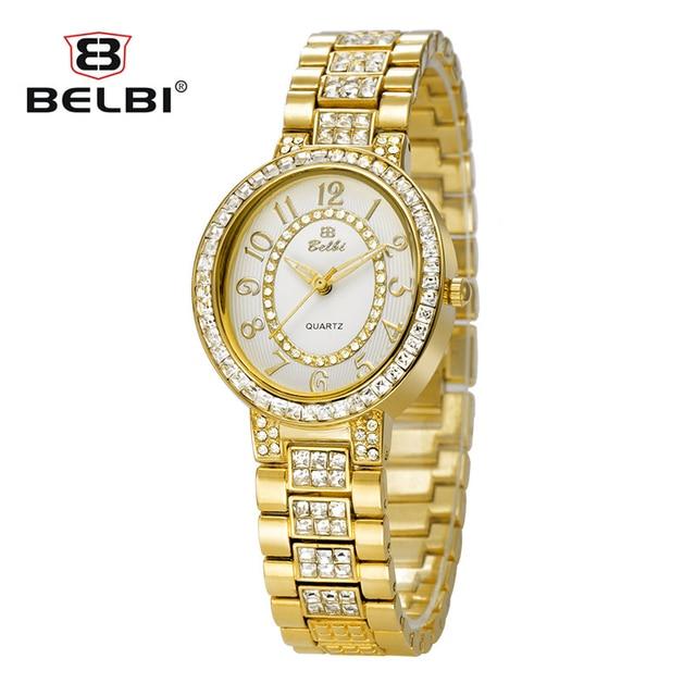 Favoloso Belbi nuovo diamante di lusso orologio da donna elegante ovale  IZ23