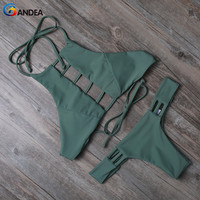 2015 Triangl Swimwear Bikini Beach Swimwear Women Sexy Swimsuit Bathing Suit Strappy Bikini Brazilian Maillot De