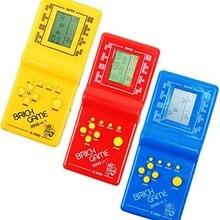 Классическая портативная игровая машина тетрис кирпичная игра детская игровая машина с воспроизведением музыки без батареи