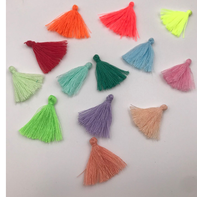 200pcs/lot 3cm Mini cotton tassel fringe sewing bangs flower tassel pendant tassels for DIY curtains home decoration accessories