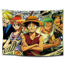 ONE PIECE Anime Tapestry Home Decor Textile Japanese Characters Wall Hanging Beach Hippie Blanket Luffy Zoro Nami Hancock
