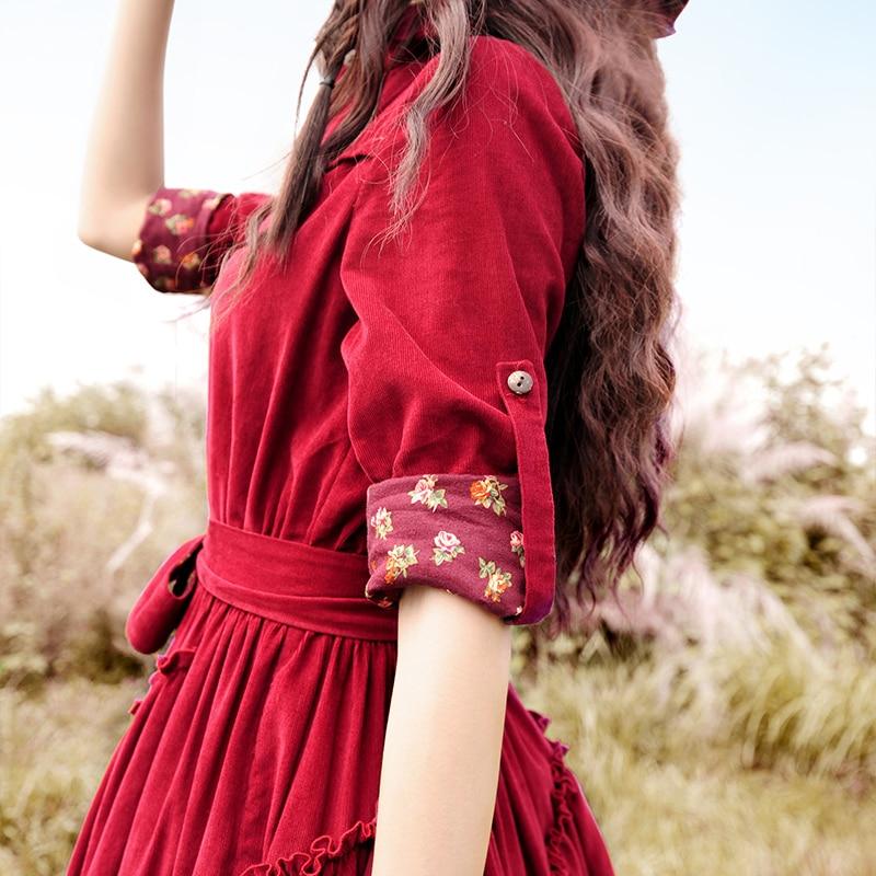 Envío Gratis 2019 Boshow nueva moda de pana manga larga trinchera vestidos de las mujeres Maxi largo Irregular vestido con cinturón-in Vestidos from Ropa de mujer    3