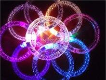 100Pcs/Lot LED Colorful bracelets Flash bracelet HALLOWEEN Acrylic flash crystal Event/Party Supplies