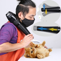 Anion Thermostatic Pet Dog Cat Grooming Dryers,Hanging Neck 3 in 1 Six speed Hair Dryer Flexible Adjustable Outlet Quick Dry