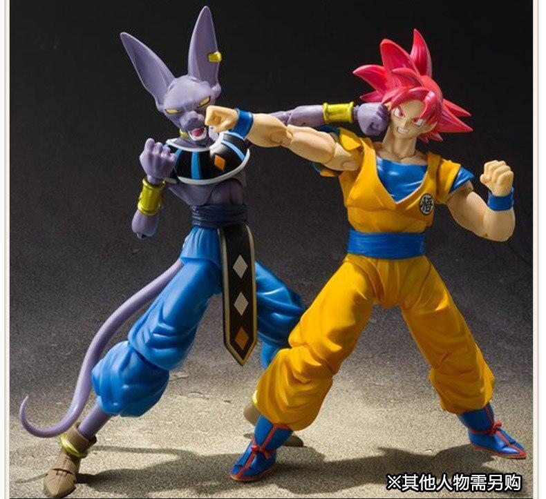 Dragon Ball Z Beerus Super Saiyan God Red hair Son Goku PVC Action Figure Collectible Model Toy