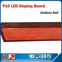 Калер СВЕТОДИОДНЫЕ экраны уличные водонепроницаемые p10 светодиодные панели светодиодные знаки, электронные светодиодный экран 16*96 Pixel