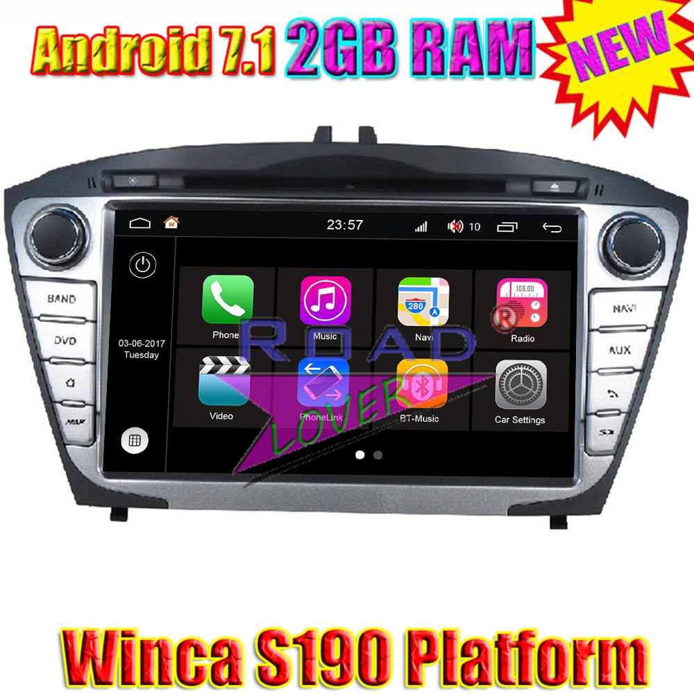 Winca S190 Android 7.1 Car Media Center DVD Player Audio For Hyundai Tuscon IX35 2014 Stereo GPS Navigation Auto Radio MP3 2DIN