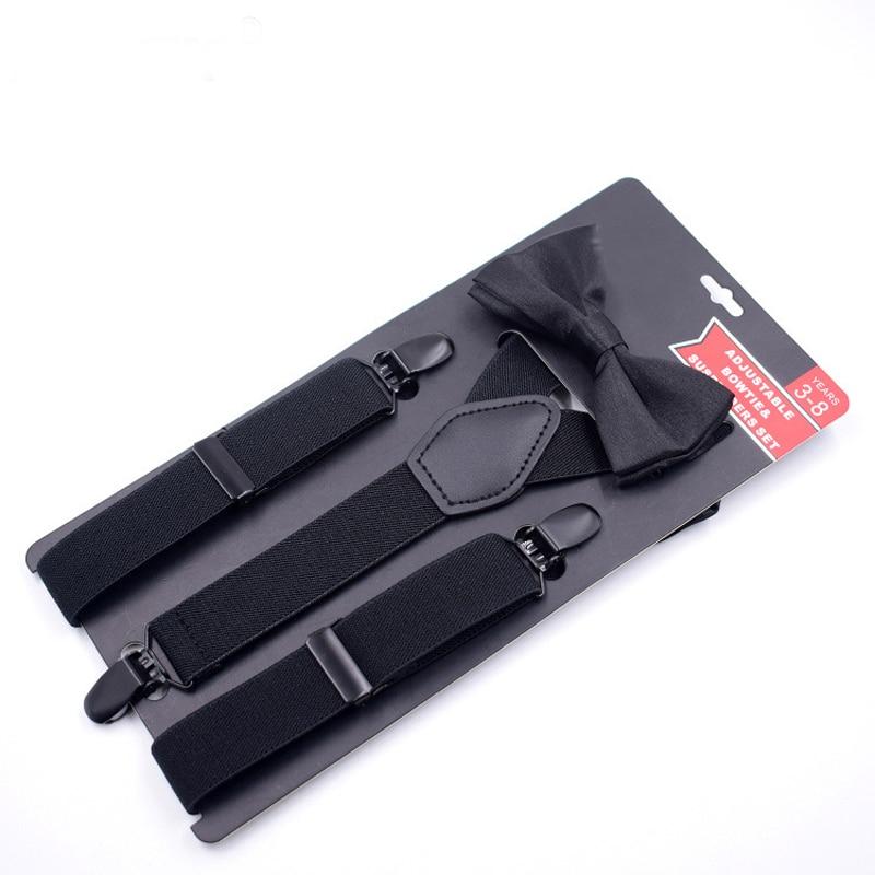 New Baby Suspenders Set  Kids Braces With Tie Environmental Clasps Suspenders Set Children Suspensorio Elastic Strap 2.5*65cm