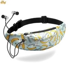 Qlng Colorful Waist bag Waterproof Travel Fanny Pack Mobile Phone Belt Bag