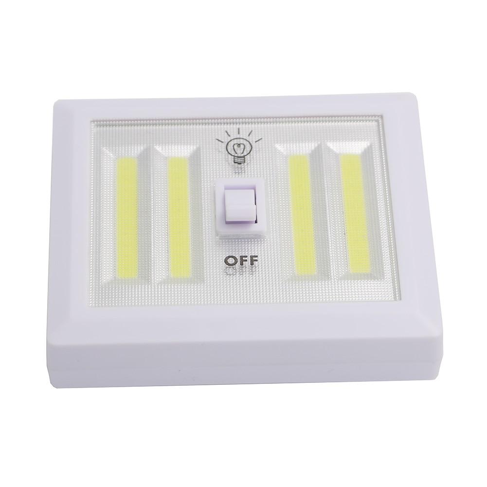 4 Cob Led Wireless Night Light Switch Wall Lamp Battery