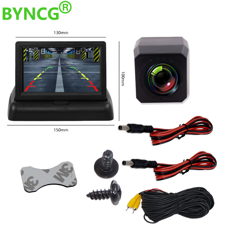 Parking Moniteur Voiture Auto Monitor LED Night Vision Car CCD Rear View Camera With 4.3 Inch Car Video Foldable Monitor Camera