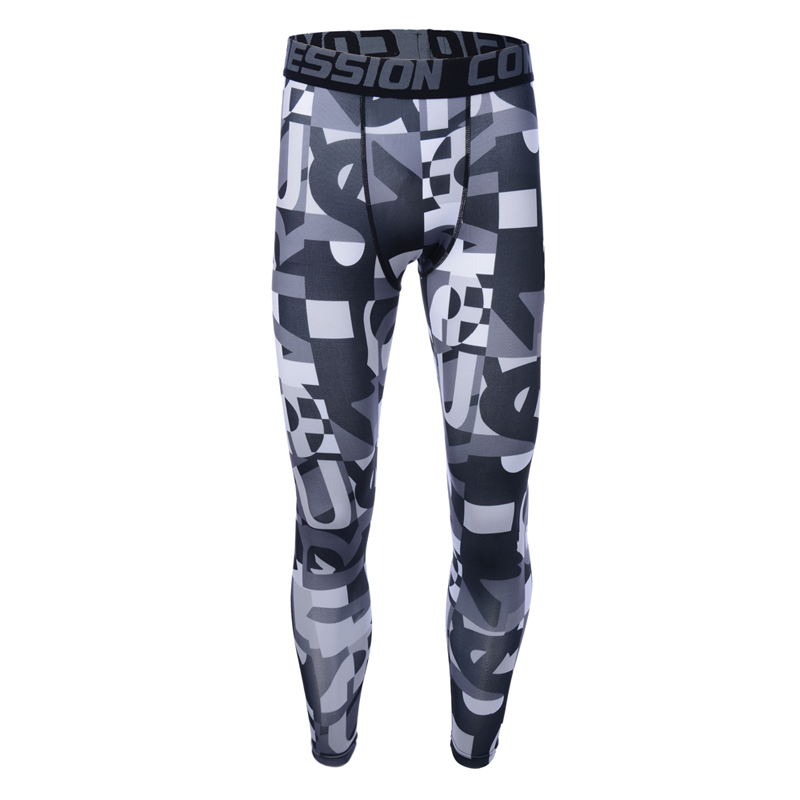 2019 neue Männer Kompression Hosen Camouflage Laufhose Fußball Training Fitness Sport Leggings Gym Jogging Hose Sportwear