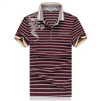 ZEESHANT Coton camisa D'été Slim Fit Hommes Polo Casual Rayé Mince Manches Courtes Camisa Polo Masculina De Marca 5XL