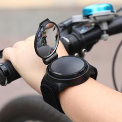 Novo espelho da bicicleta de volta espelho ciclismo 360 graus girar mtb braço alça de pulso retrovisor acessórios da bicicleta