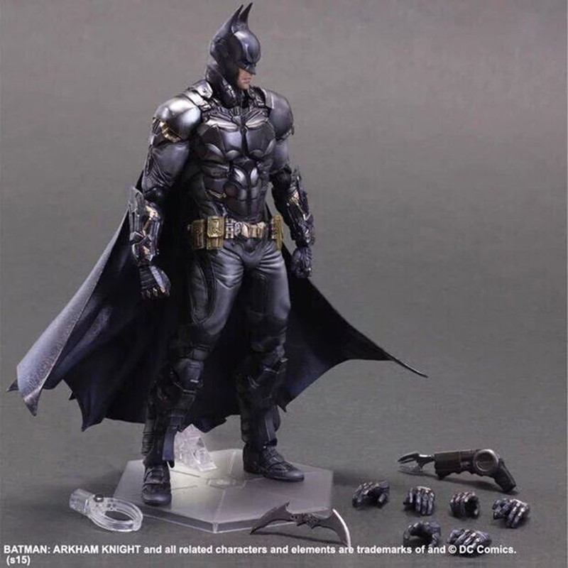 BATMAN ARKHAM KNIGHT PLAY ARTS KAI 27cm PVC Action Figure Toys Gift Model Free shipping kb0337 playarts kai batman arkham knight batman blue limited ver superhero pvc action figure collectible model boy s favorite toy 28cm