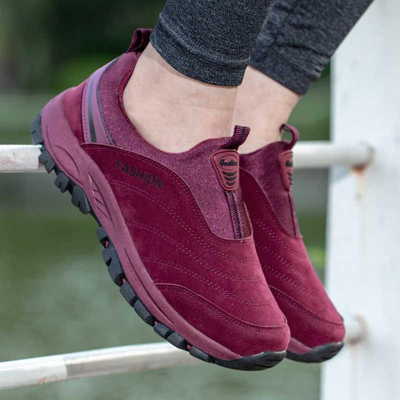 Женская походная обувь; Уличная обувь на плоской подошве; дышащая прогулочная обувь для пожилых; устойчивая обувь для мам; обувь для кемпинга и охоты
