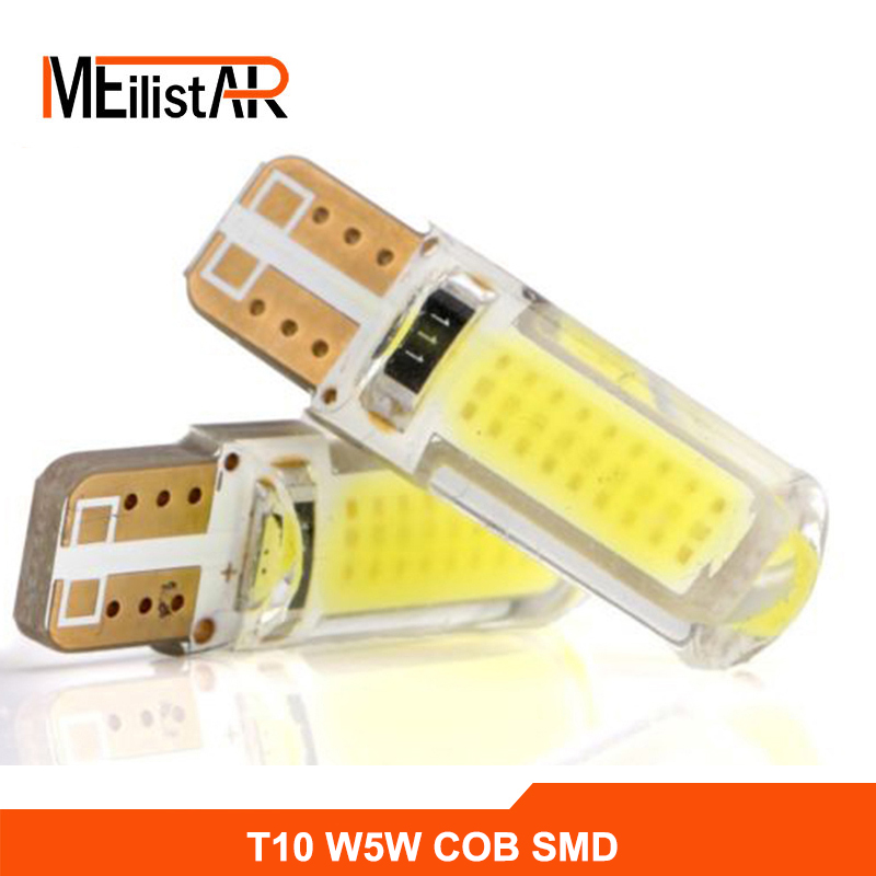 New T10 W5W LED car interior light cob marker lamp 12V 194 501 SMD bulb wedge parking light canbus auto lada car styling new t10 6 smd 5050 194 w5w 501 led car light colourful led canbus error interior light bulb remote control dc 12v
