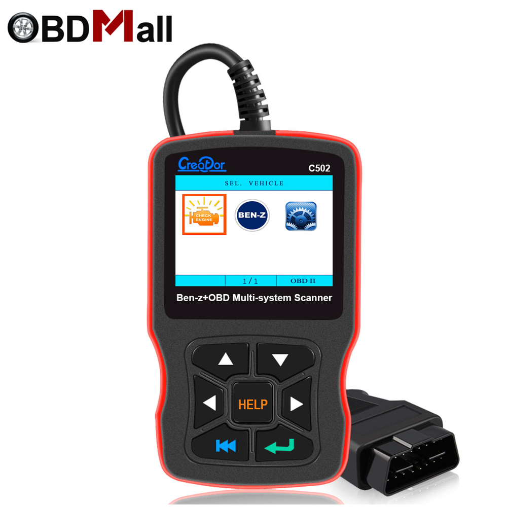 CREATOR C502 OBD 2 Autoscanner Code Reader for Mercedes Benz W211 W203 W124 OBD 2 cars Diagnostics Scanner Car Diagnostic Tool auto scanner code reader diagnostic tool for mercedes benz s