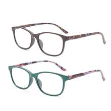 Gudzws очки для чтения унисекс модные Пружинные шарниры комфорт читателей пластик рамки для женщин мужчин 2 упак