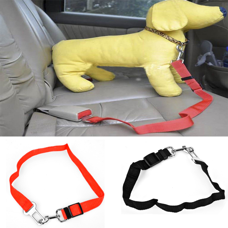 Pet Dog Car Travel Seat Belt Clip Lead Restraint Harness Auto Traction Leads Adjustable Dog Cat Pet Car Safety Seat Belt