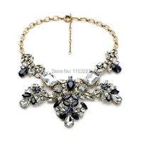 Nuova Marca di Arrivo Deluxe Catena D'oro Pendente Diamante Fiore di Cristallo Delle Signore Esagerato Collana