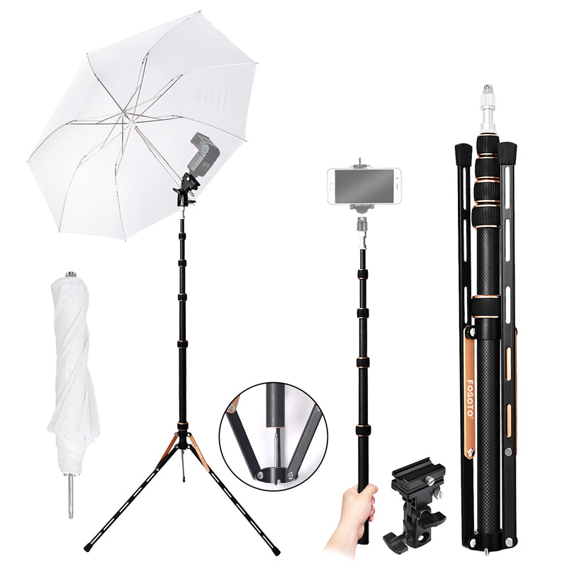 Photographic Lighting Fosoto Ft-190b Pink Led Light Tripod Stand Bag 2.2m Head Softbox For Photo Studio Photographic Lighting Flash Umbrella Reflector Special Buy