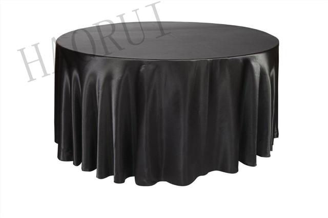 Stks aangepaste zwarte ronde eettafel doeken satin