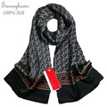 Большие Шелковые Шарфы Серый Шарф Men100 % Сатин марка дизайнер Черный Платок Хиджаб Плед Цветочные Невесты Платок Хиджаб Мерцание Wrap