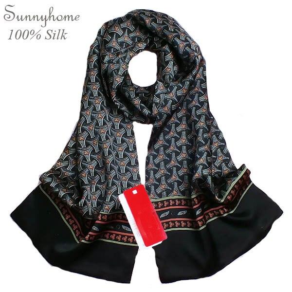 Grand Foulards En Soie Foulard Gris Men100 % Satin Soie marque designer Noir  Châle Hijab Tartan 1ea9960e2f4