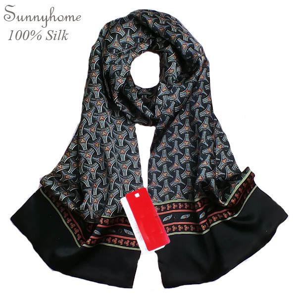 Grandes Pañuelos de Seda de La Bufanda Gris Men100 % de Satén de Seda Negro diseñador de la marca Chal Hijab Hijab Pañuelo A Cuadros Floral Novia Shimmer Wrap