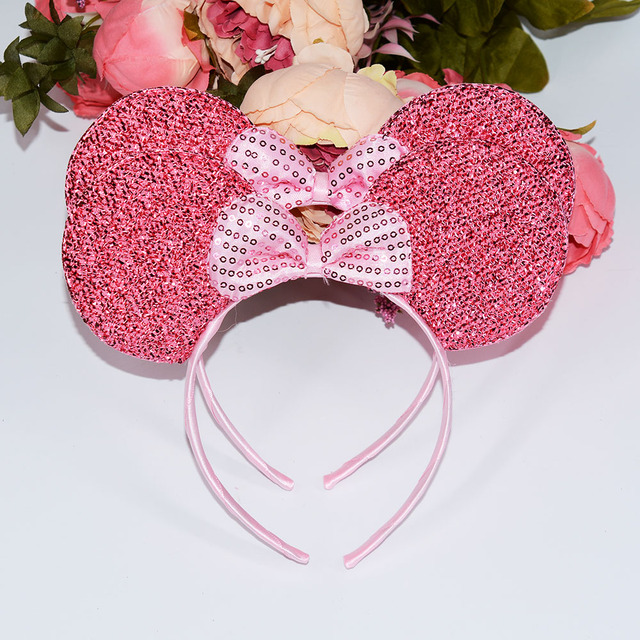 Minnie Mouse Ears Headband Polka Dot Bow Birthday Party