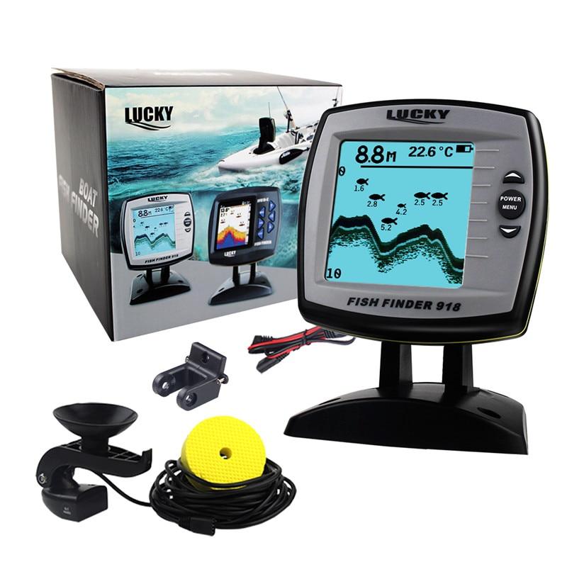 Sonar Fish Finder FF918-180S Wired Echo Sounder Fishing Lure Findfish Boat Alarm Fish Finder 45 degrees RU EN Menu Pesca Probe (10)