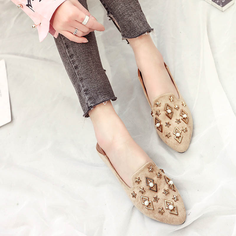 Zapatos Cristal Automne Printemps Mocassins Chaussures Femmes Se565 Femme Gtime Appartements Beige Couleur Solide black Plat Mujer pqF1WWvw7