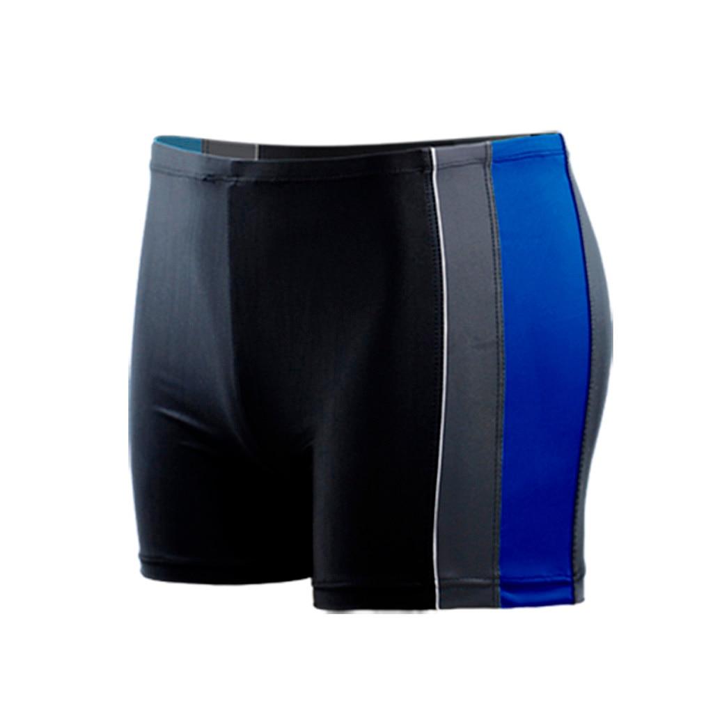 Мужские короткие плавки, быстросохнущие, пляжные, в полоску, для бега, для плавания, для мужчин, maillot de bain, для плавания, короткие,#4 - Цвет: Синий