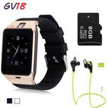 2016 НОВЫЕ Bluetooth смарт часы GV18 smartwatch Поддержка SIM GSM Видео камера Для Android Мобильный телефон 1,3-МЕГАПИКСЕЛЬНОЙ КАМЕРОЙ